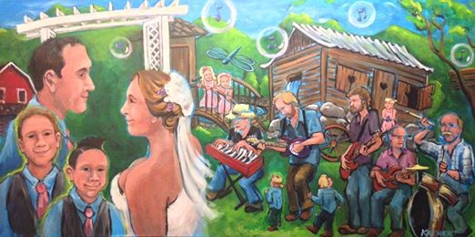 Painting by Lauri Keener (Gavin Wedding, June 2014)